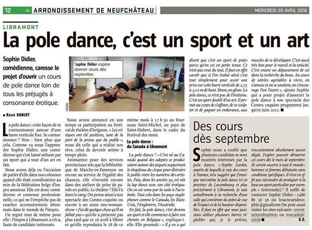 Sophie Didier pole dance